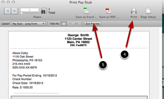 How to Print a Pay Stub