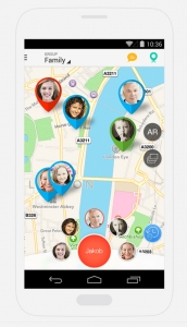 Family Locator app for iPhone or Android reviewed by NannyPay payroll software