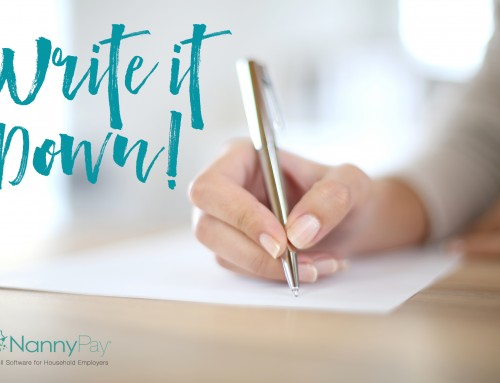 Write It Down – What I've Learned Hiring My First Nanny