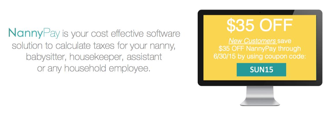 NannyPay DIY Payroll Tax Software