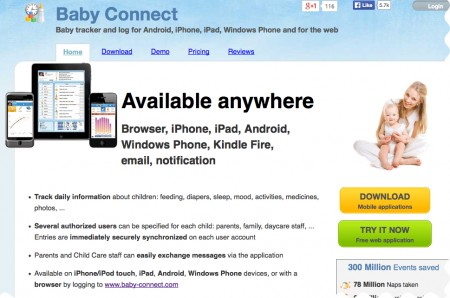 Baby Connect App for Caregivers Parents and Nannies