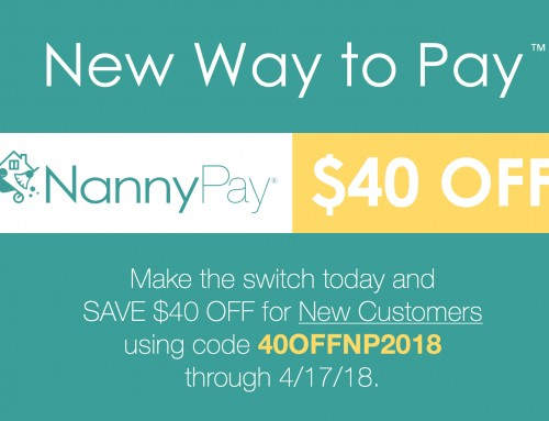 Save $40 OFF NannyPay for Tax Season