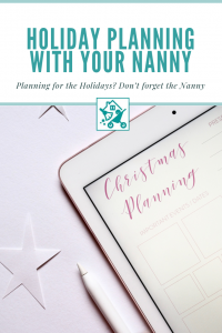 Holiday Planning with Nanny