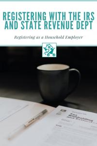 Registering IRS Household Employer